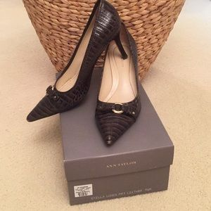 Ann Taylor Crocodile Leather Heels